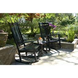 Outdoor Rocking Chair Set of 2 + Side Table, World's Finest