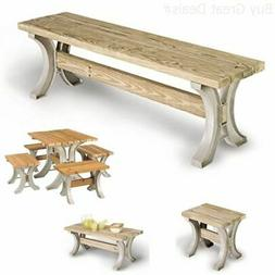 Park Bench Table Garden Patio Furniture Yard Deck Wood Seat