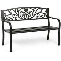 Patio Park Garden Bench Porch Path Chair Outdoor Deck Steel