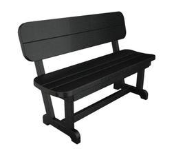 "POLYWOOD PB48BL Park 48"" Bench in Black"