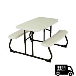 Picnic Table For Kids Folding Portable Durable Outdoor Bench