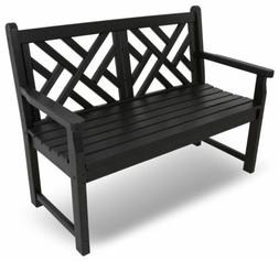 Polywood® Chippendale 4ft Outdoor Bench Plastic Recycled Co