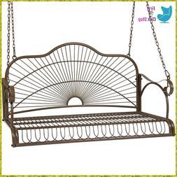 Porch Swing Patio Metal Hanging Seat Furniture Outdoor Deck