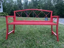 Austram Red Metal Youth Splash Garden Bench