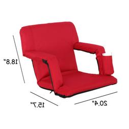 Red Stadium Seats Chairs for Bleachers or Benches - 5 Reclin