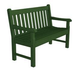 "POLYWOOD RKB48GR Rockford 48"" Bench in Green"