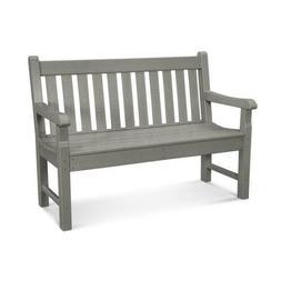 """Polywood RKB48GY Rockford 48"""" Bench in Slate Grey"""