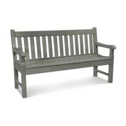"""Polywood RKB60GY Rockford 60"""" Bench in Slate Grey"""