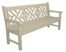 """POLYWOOD RKCB72SA Rockford 72"""" Chippendale Bench in Sand"""
