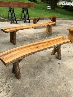 Rustic benches for indoor or outdoor use, great for patio, f