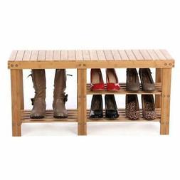 Shoe Storage Bench Seat Organizer Entryway Wood Furniture Sh