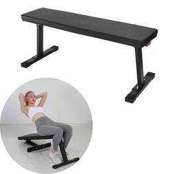 Sit Up Bench Flat Weight Bench with Sewn Vinyl Seats Home Wo