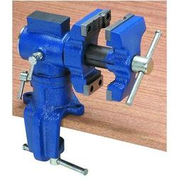 Small Mini Bench Clamp On Table Swiveling Vise Clampon Clamp