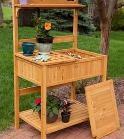 Small Potting Table Bench Outdoor Indoor Work Station Garden