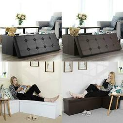 storage bench ottoman chest collapsible folding foot
