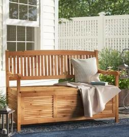 Storage Seating Bench for Patio Garden Yard Indoors Solid Ac