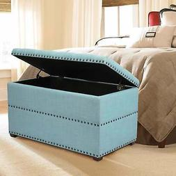 Adeco Stylish Button Tufted Lift Top Storage Bench