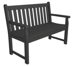 "POLYWOOD TGB48GY Traditional Garden 48"" Bench in Slate Grey"
