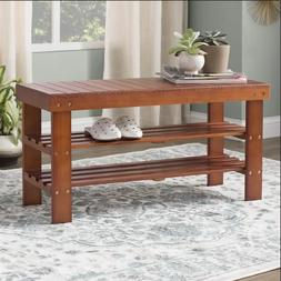 Theiss Wood Storage Bench