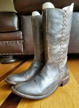 BED STU Womens Distressed Brown Leather Boot Bench Made Cobb