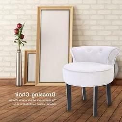 Wood Vanity Stool Chair Bedroom Dressing Table Padded Chair